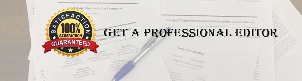 Academic edititng and proofreading