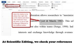 Checking references by Scientific Editing