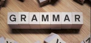 Grammar use in academic writing