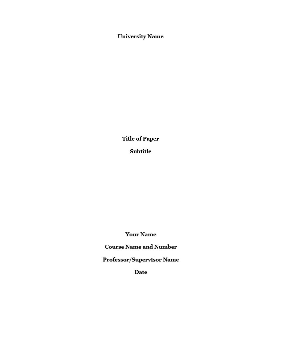 MLA title page format